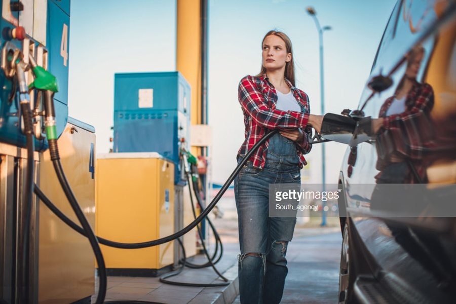 Gasoline-Station-Woman