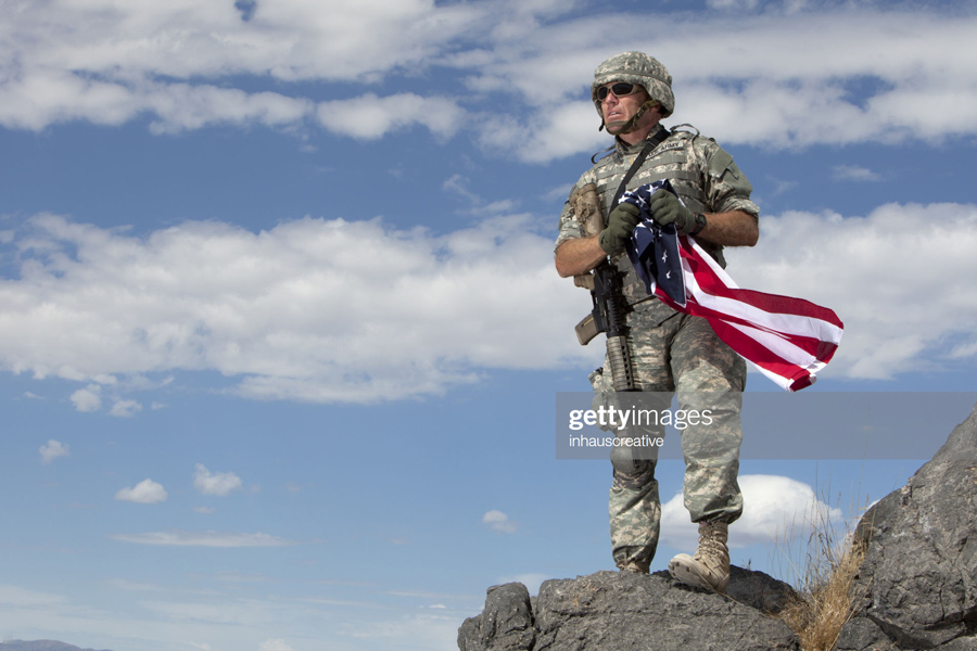 US-Afghan military soldier