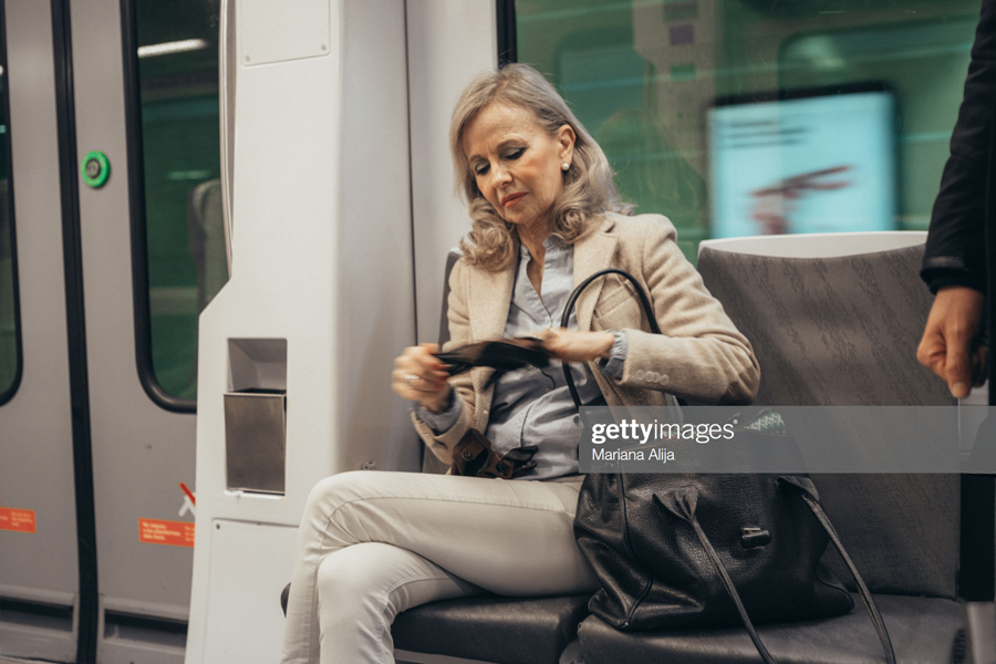 Subway-Woman