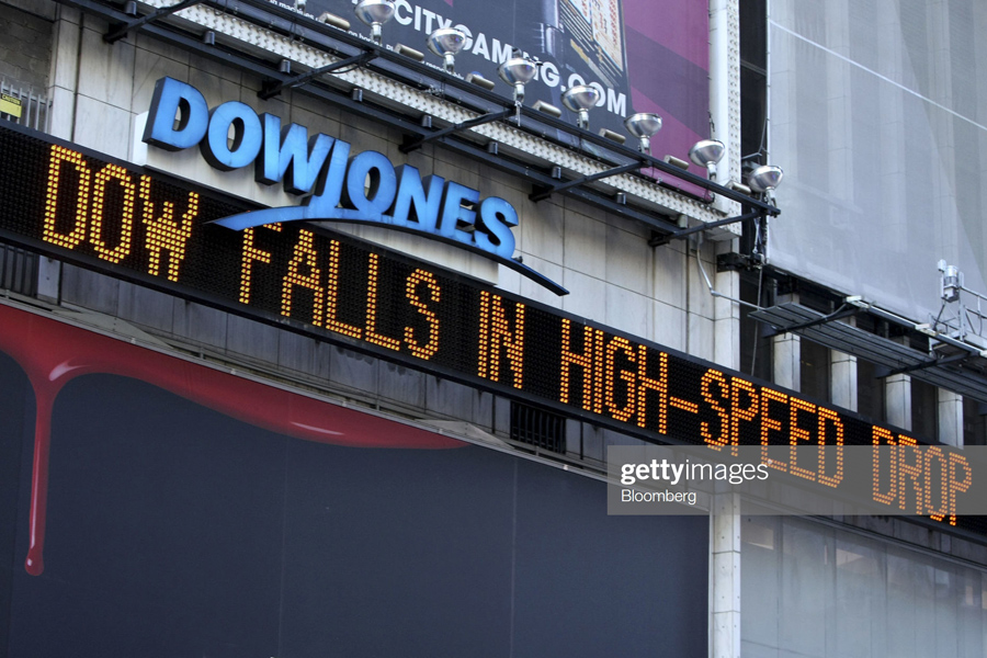 Dow Average Plunges