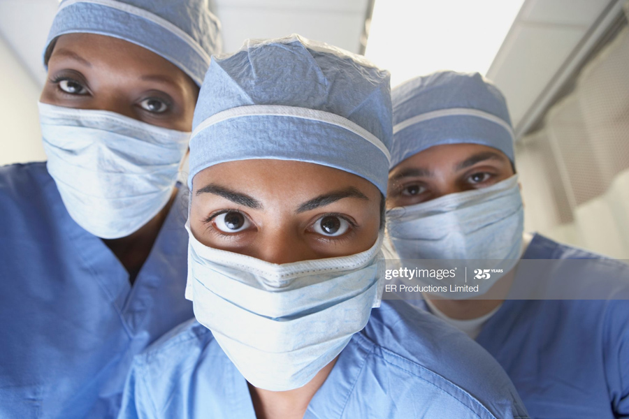 Doctors wearing masks