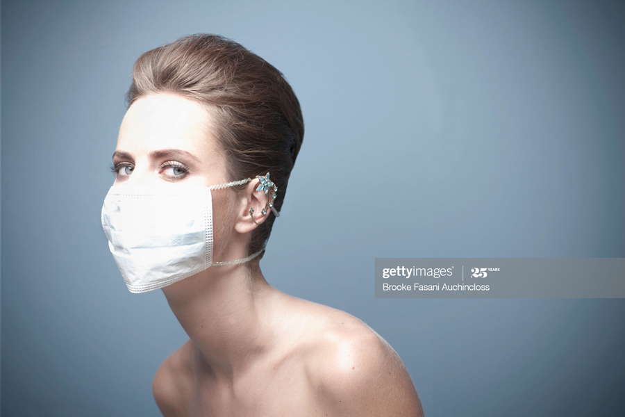 Wearing surgical mask