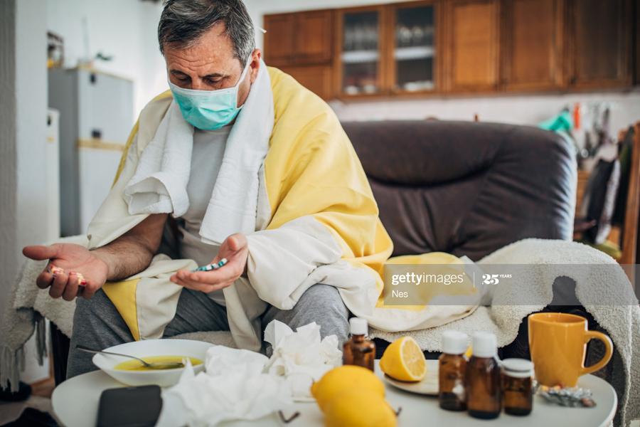 Sick with coronavirus