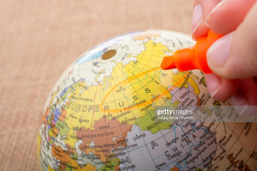 Marking On Globe