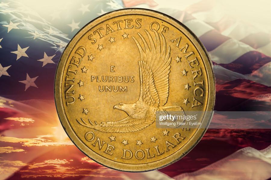 US-Coin-Flag