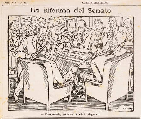 Reform of Senate, cartoon