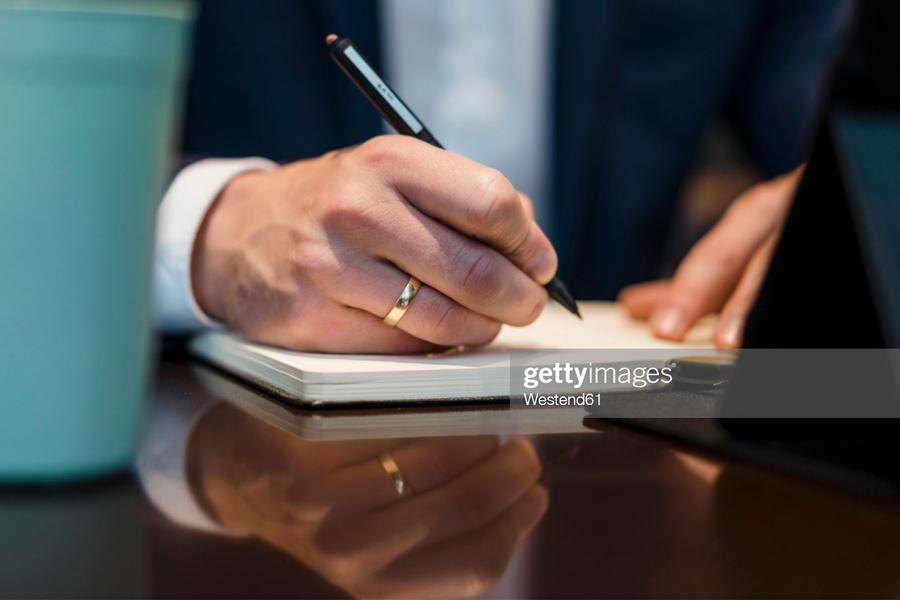 writing in diary