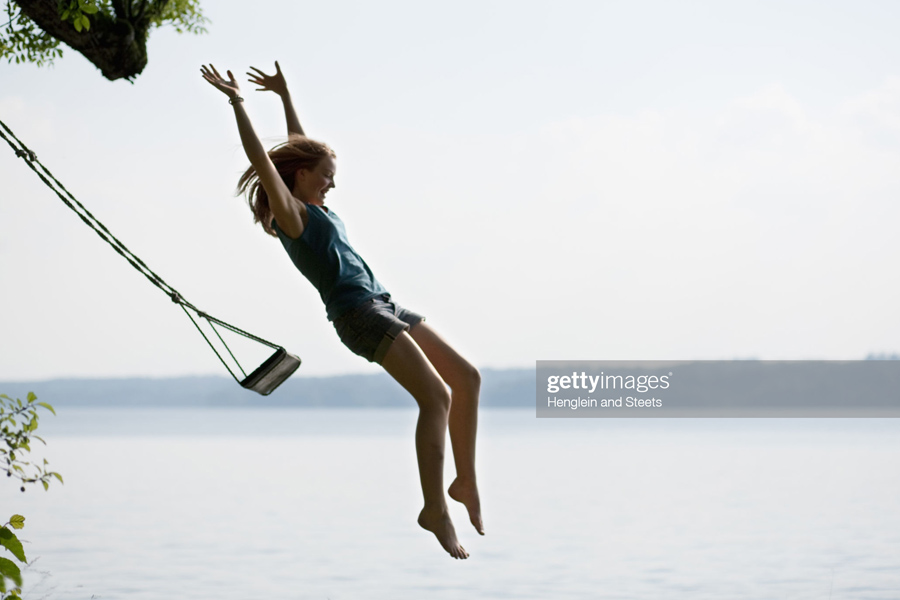 Jumping from swing