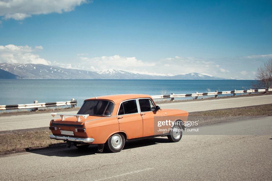 Old orange car