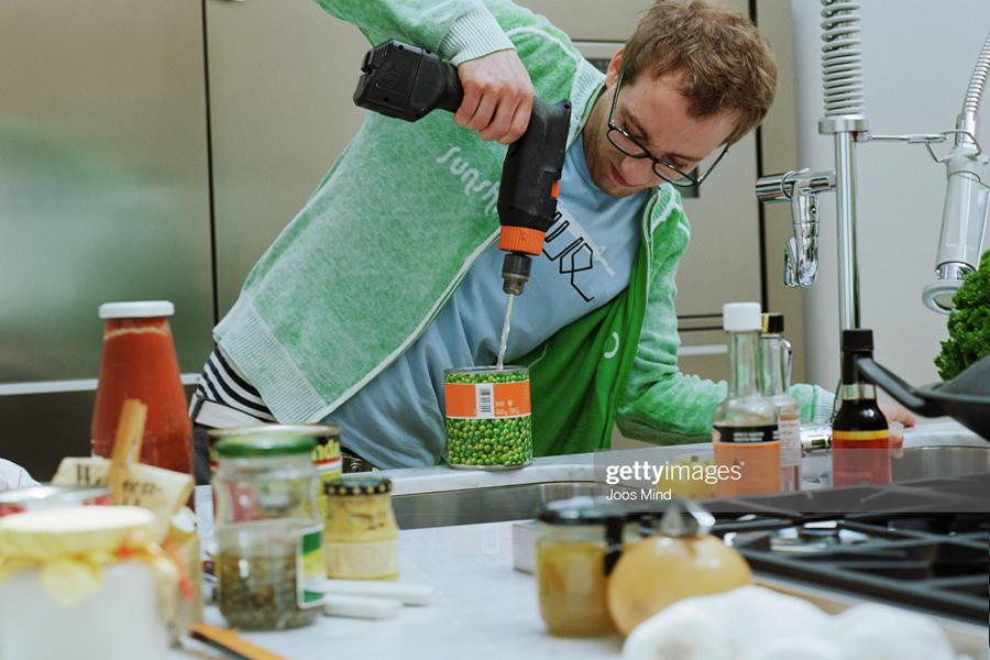 Man-at-kitchen