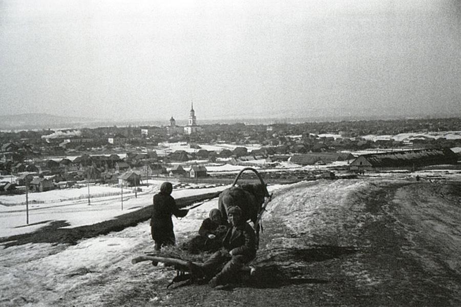 Вид города Жигулевска, середина 1950-х гг