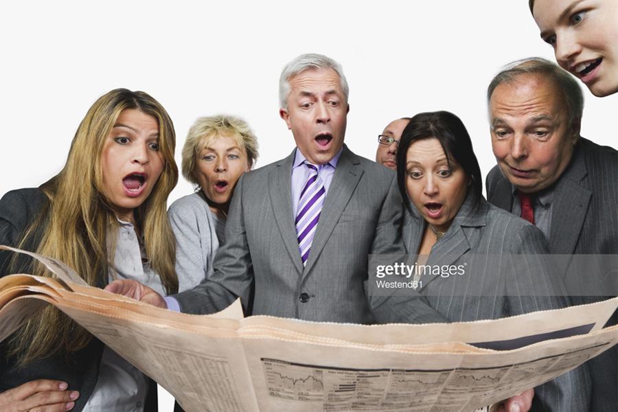 People shocked newspaper