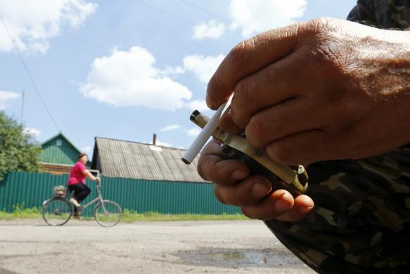 Grenade and cigarette