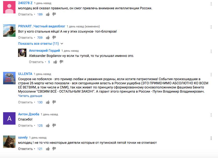 Интеллигенция с восторгом приняла слова Сокурова о том, что режим Путина более нельзя терпеть