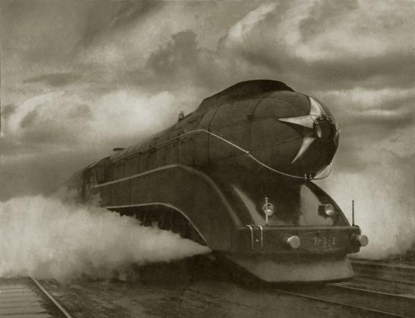 Аркадий Шайхет. Экспресс. москва, станция Удельная. 1939