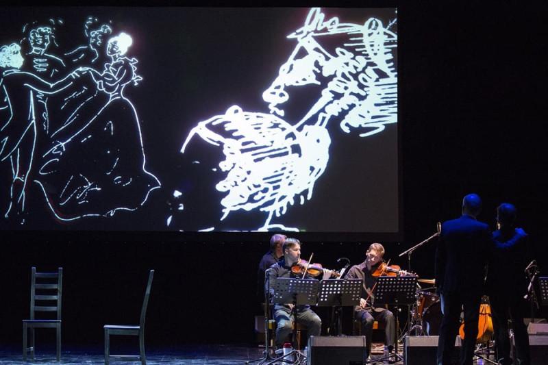 """Сцена из спектакля """"Онегин"""". Фото: сайт http://onegin.show/"""
