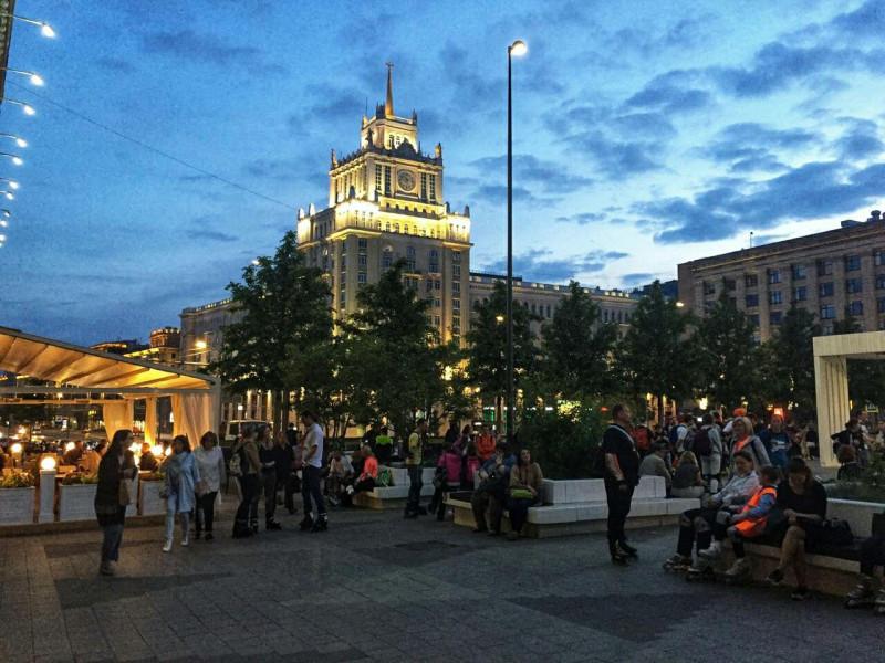 Вид на Триумфальную площадь, она же площадь Маяковского