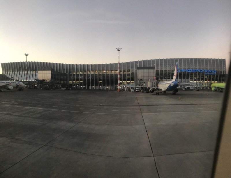 Новый терминал аэропорта города Симферополь. Был открыт в 2018 году