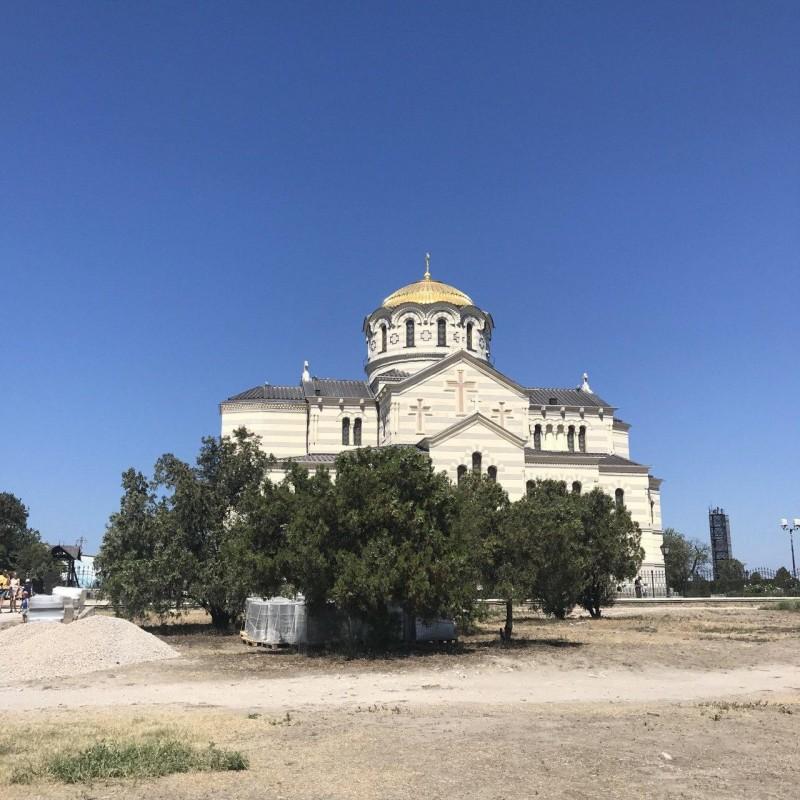 Восстановленный Владимирский собор в Херсонесе. По преданию на его месте в 987 году был крещен киевский князь Владимир