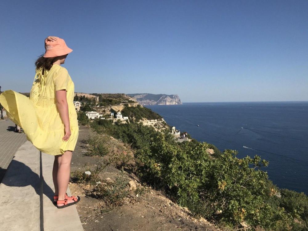 Вид на море со стороны Свято-Георгиевского монастыря