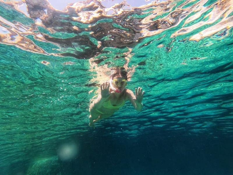Сноркелинг на пляже Мармара, Крит