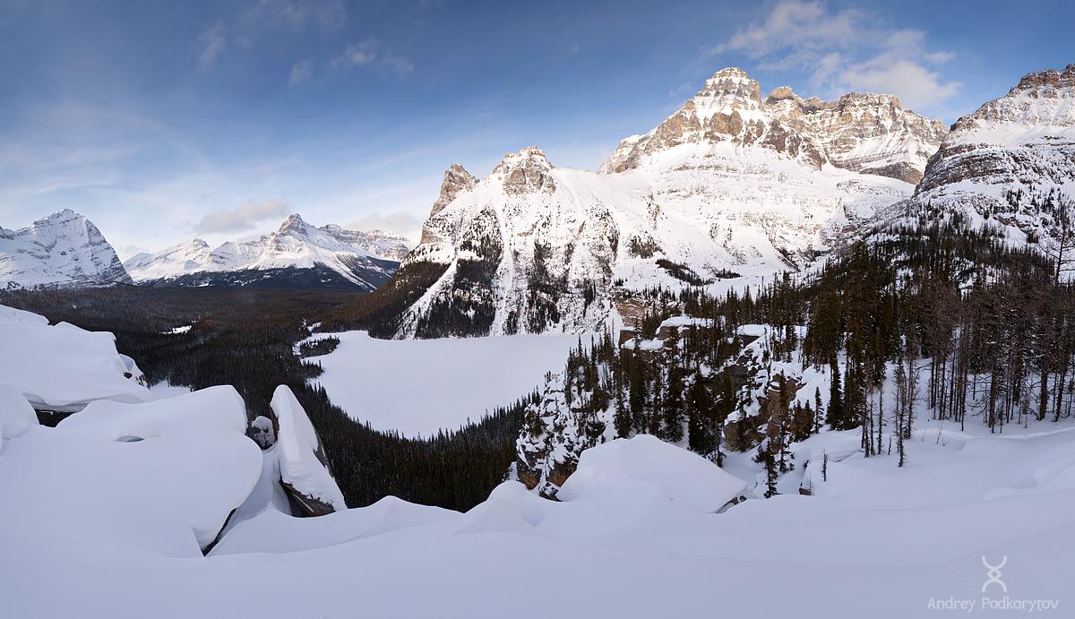 Озеро Lake O'Hara. Национальный парк Yoho. Канадские Скалистые горы.