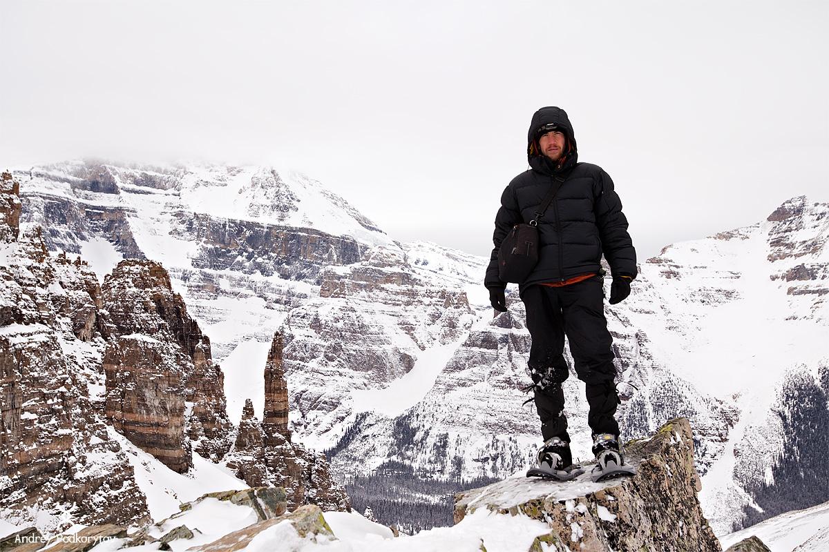 Автопортрет. Перевал Sentinel. Национальный парк Банф. Канадские Скалистые горы.