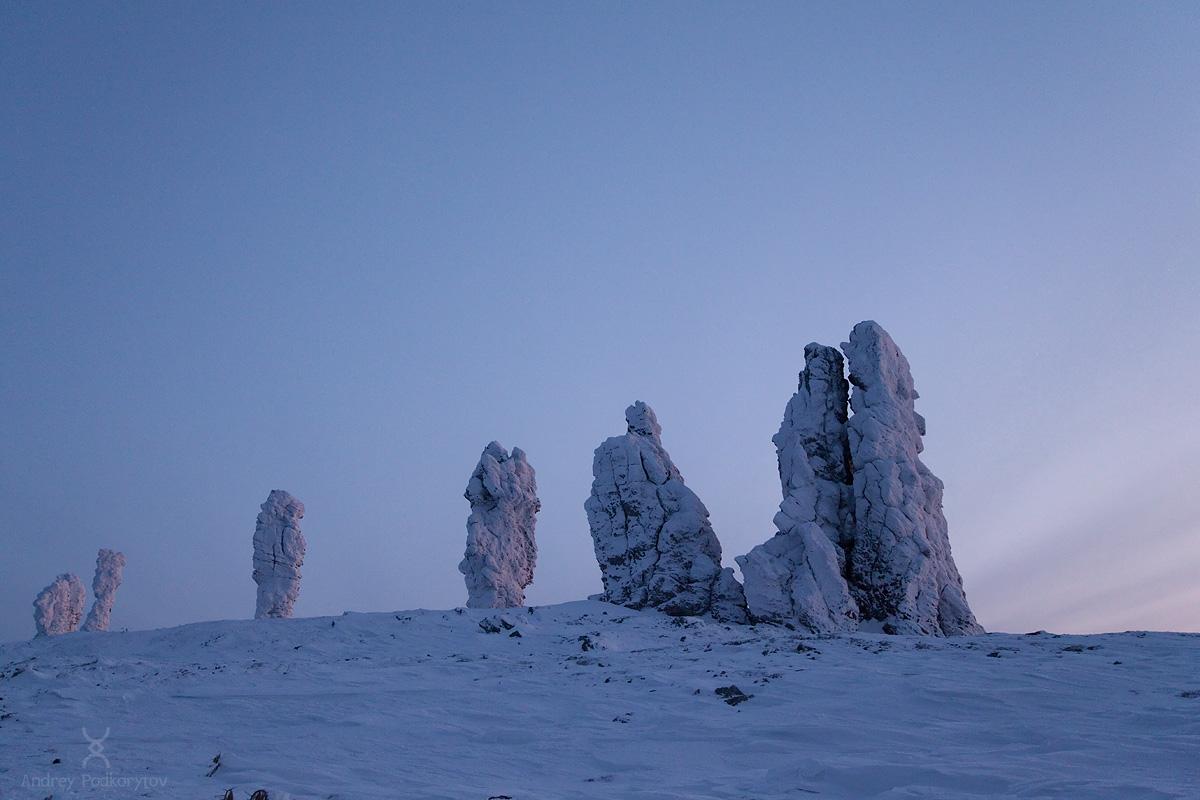 Одиночный лыжный поход на плато Маньпупунёр