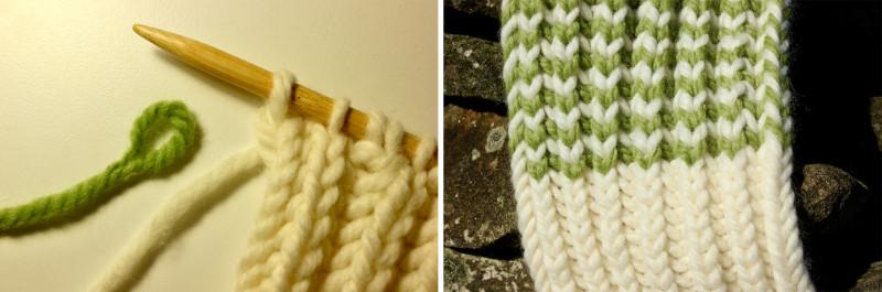 Вязание без хвостов Fringe scarf, Loop Join.jpg