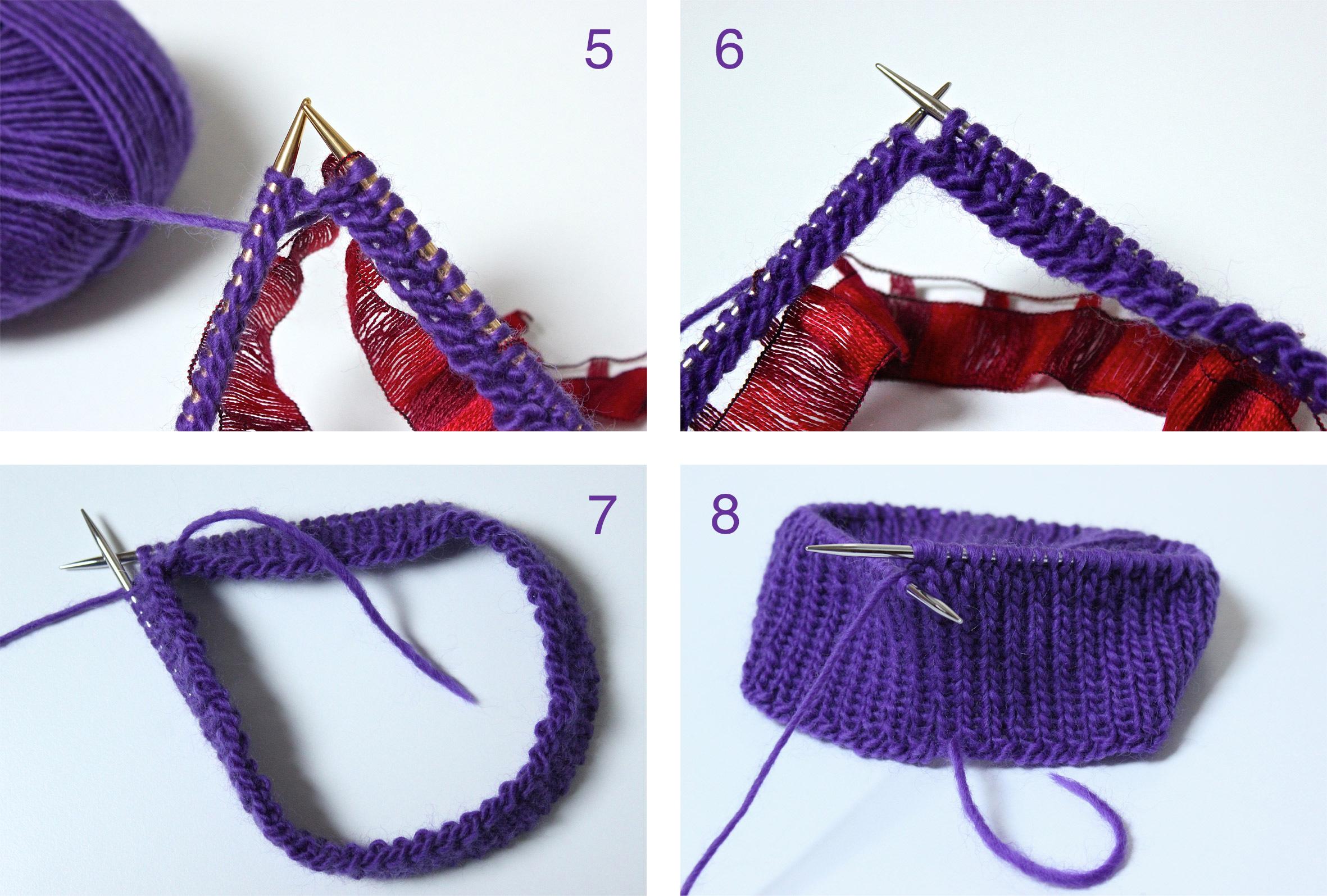 Вязание как соединить петли в круг
