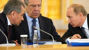 Шойгу, Лавров и Путин