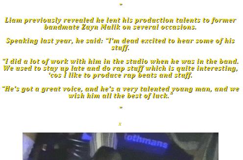 Ziam - Liam about Zayn