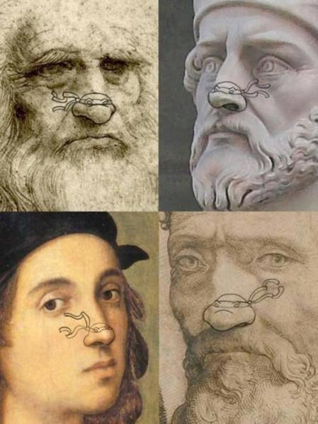 черепашки ниндзя на носах