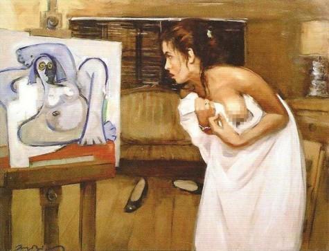 женщина недоволна своим портретом