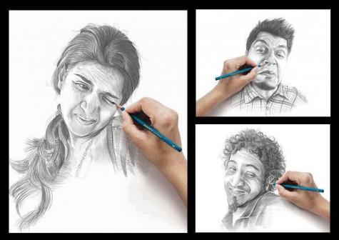 людям щекотно, когда их рисуют