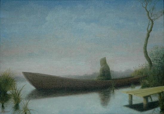 Пейзаж с рыбаком 1