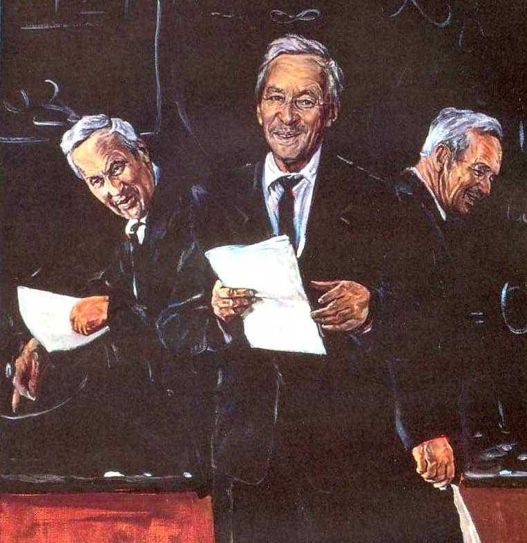 фрагмент картины «Учитель» (1980) – портрет А.Н.Колмогорова работы Д.И.Гордеева, его ученика