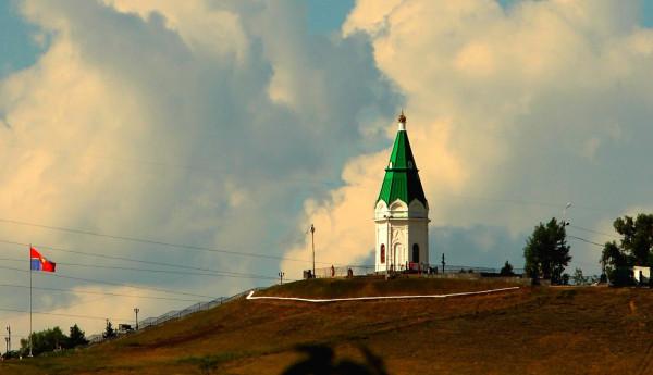 Часовня Параскевы Пятницы в Красноярске с новым цветом купола. Фото: Владимир Колмаков