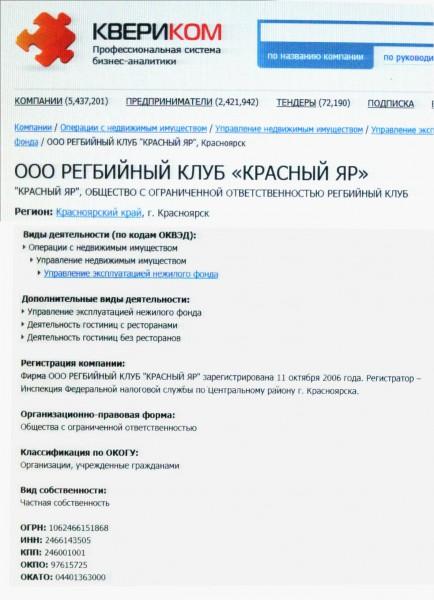 ООО Регбийный клуб Красный Яр