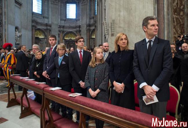 Семья инфаты Кристины в Риме.