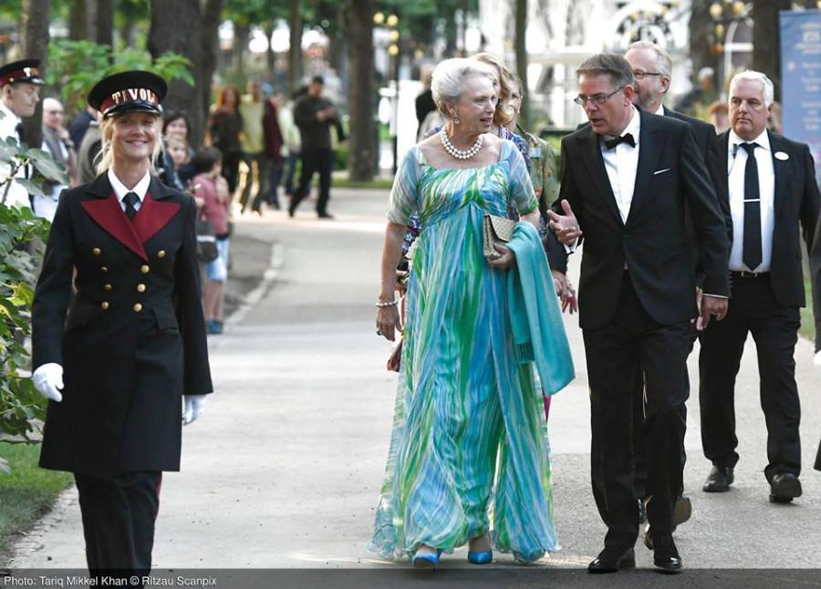 Принцесса Бенедикт и кронпринцесса Мэри  на празднование 175-летия парка Тиволи.