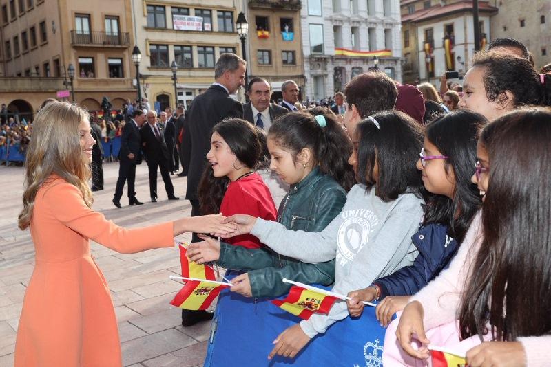 Испанцы прибыли в княжество Астурийское на ежегодную церемонию вручения премии