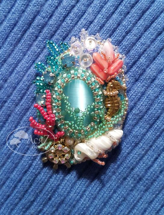 Альбом пользователя АсяZ: Брошь Коралловый риф.