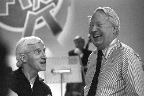 Edward-Heath-right-and-Jimmy-Savile-rehearsing-for-an-episode-of-Jimll-Fix-It