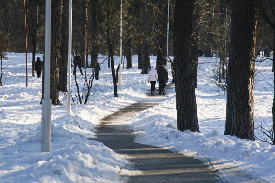 весна, снег, Киев