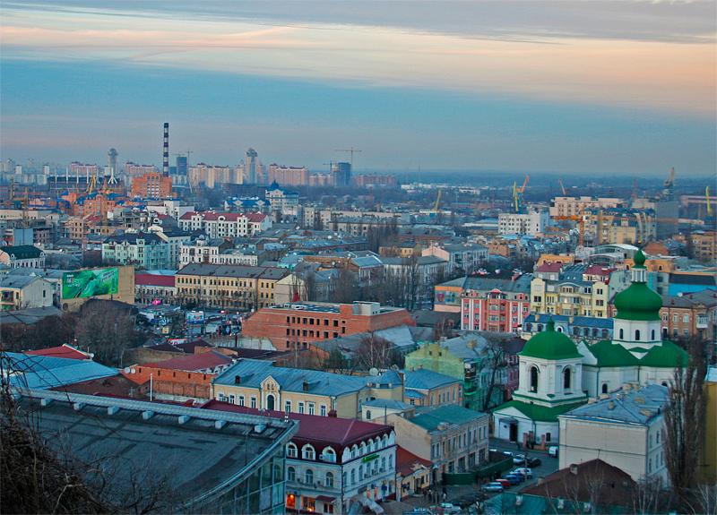 Киев ,Подол, вечерний Подол, фото
