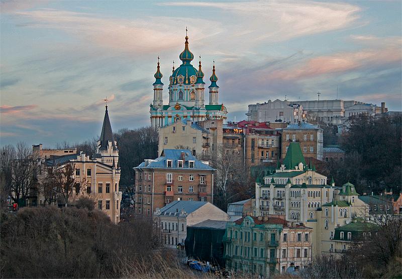 вечерний Киев, Киев, фото, Андреевский спуск