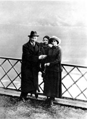 Держинский с семьей в Швейцарии 1918 г.
