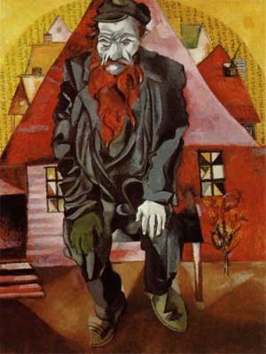 Марк Шагал. Красный есрей. 1915