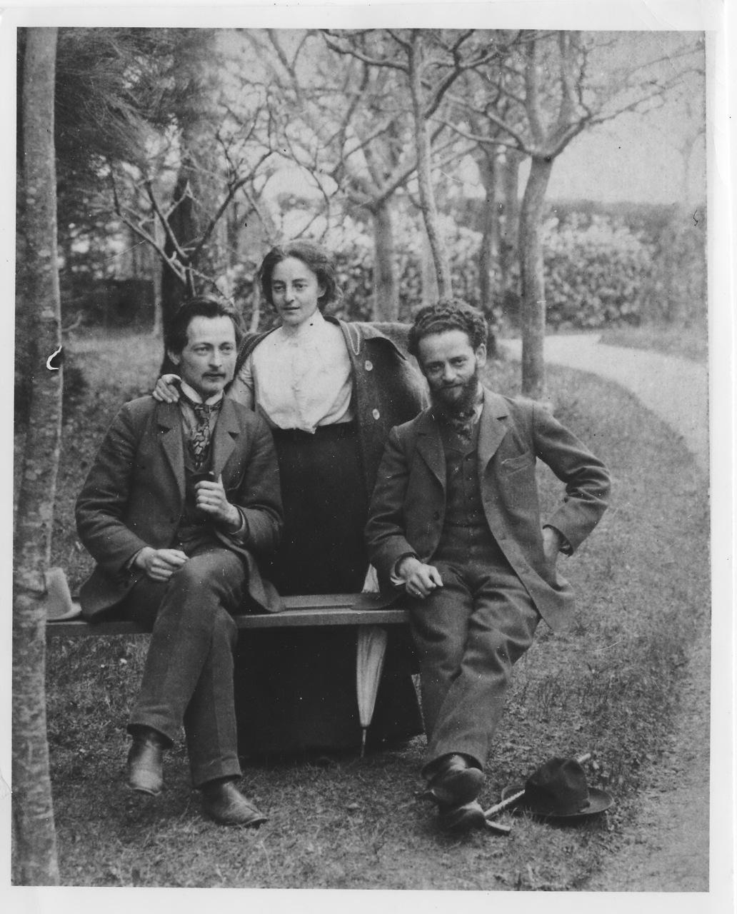 Дзержинский с Юлией и Михаилом Гольдманом Швейцария